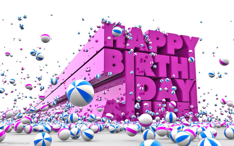 3d Happy Birthday Wallpaper Free Download